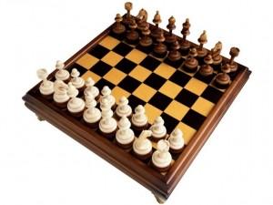 шахматная доска с фигурами