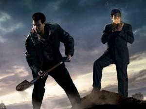 двое мужчин копают