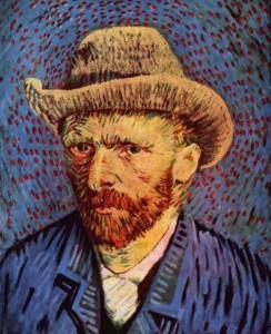 Винсент Ван Гог - Автопортрет в серой фетровой шляпе