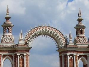 арка с двумя башенками