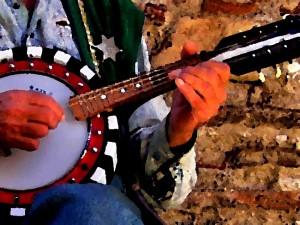 шериф играет на банджо