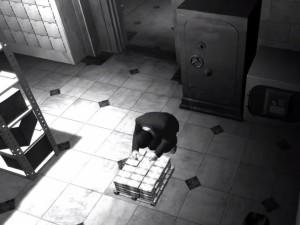 съёмка ограбления камерой наблюдения в игре GTA 4