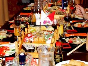 банкет в японском ресторане